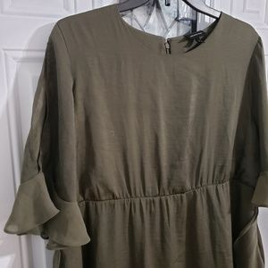 Olive green womans dress